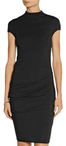 Helmut Lang Modal Wool Stretchy Fitted Dress