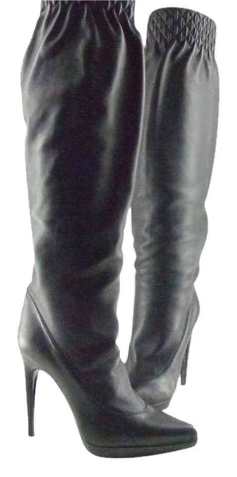 36a6431d1f3 Casadei Leather Over The Knee Boots Booties. Size  US 7.5 Regular (M ...