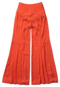 Anthropologie Wide Leg Super Flare Pants Orange