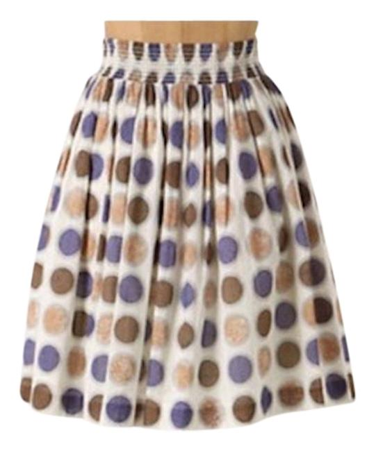 Item - White Tan Brown Black Purple Edme & Esyllte Cultivation Skirt Size 6 (S, 28)