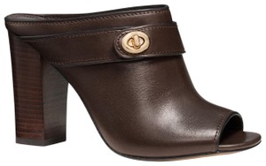 Coach Bootie Brown Mules