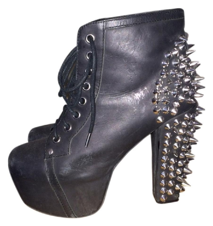 jeffrey campbell black lita with spikes boots booties size us 6 5 regular m b tradesy. Black Bedroom Furniture Sets. Home Design Ideas