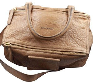 Givenchy Distressed Pebbled Leather Gold Hardware Shoulder Bag