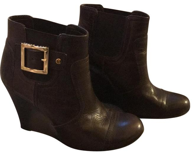 Item - Brown Adrienne Leather Wedge Boots/Booties Size US 6 Regular (M, B)