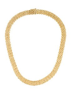 df9b1d8b887f4 Tiffany & Co. Vintage Heavy Made In West Germany 18K Yellow Gold Collar  Necklace -