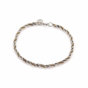 Tiffany & Co. Sterling Silver & 18K Yellow Gold 3mm Rope Chain Bracelet