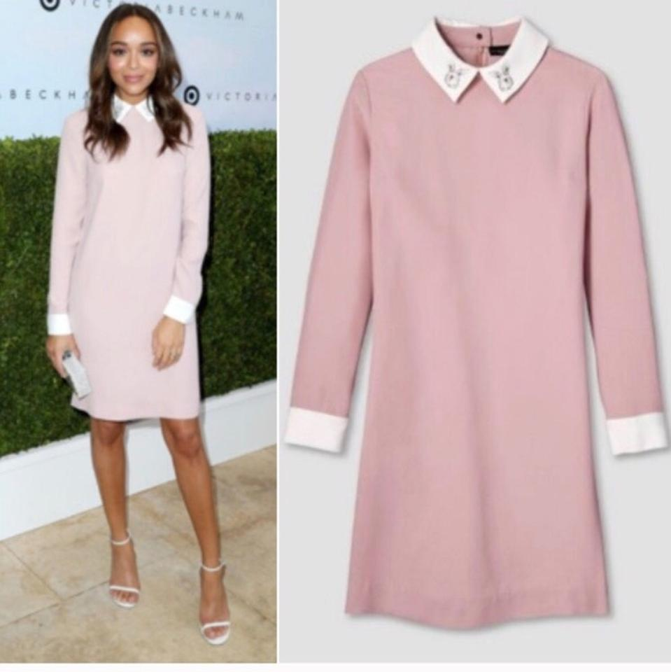 Victoria Beckham for Target Blush Pink Collared Bunny Mid-length ...