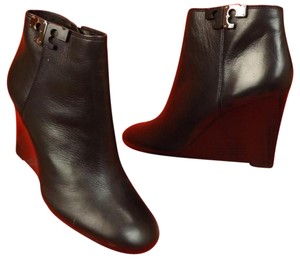 Tory Burch Wedge Ankle Black Boots