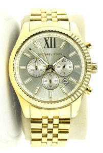 Michael Kors Michael Kors Lexington Gold-Tone Stainless Steel Unisex Watch
