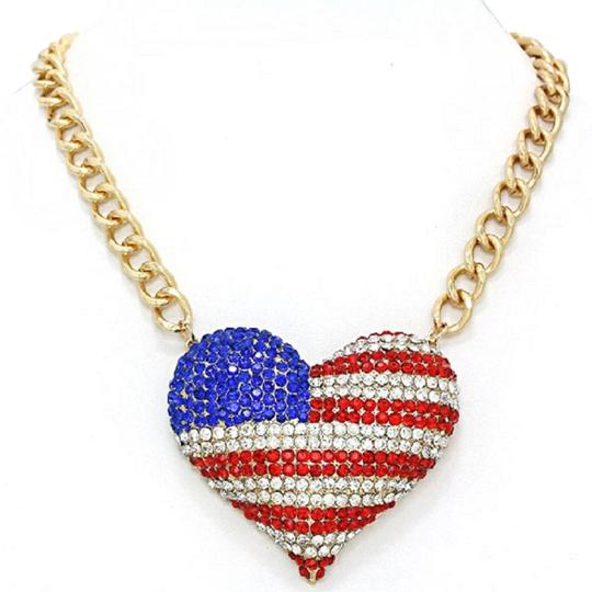Preload https://item5.tradesy.com/images/red-blue-clear-gold-american-flag-rhinestone-crystal-accent-heart-necklace-2239374-0-0.jpg?width=440&height=440