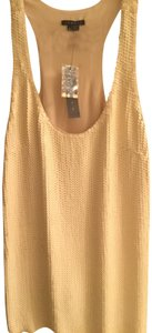Theory Sequin Tank Racer-back Top Ivory