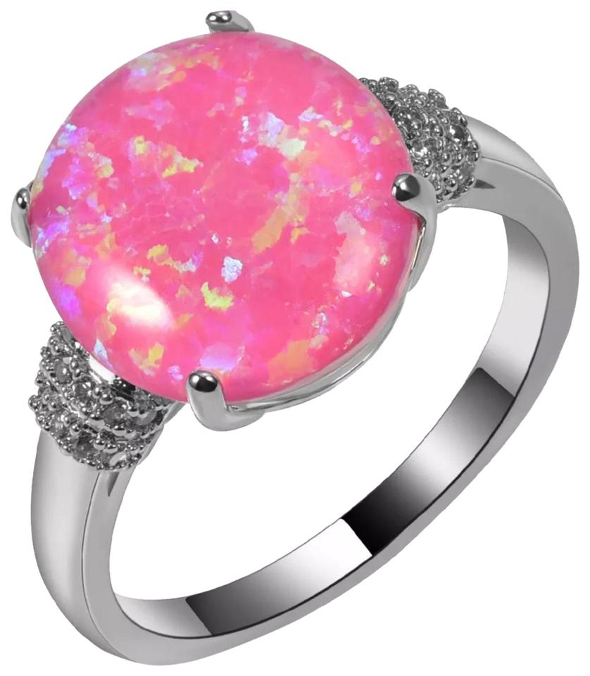 Pink Fire Opal and Silver New Ring - Tradesy