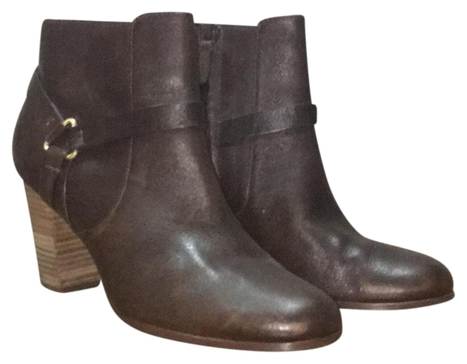 Cole Brown Haan Brown Cole Triangle Strap Ankle Boots/Booties 981489
