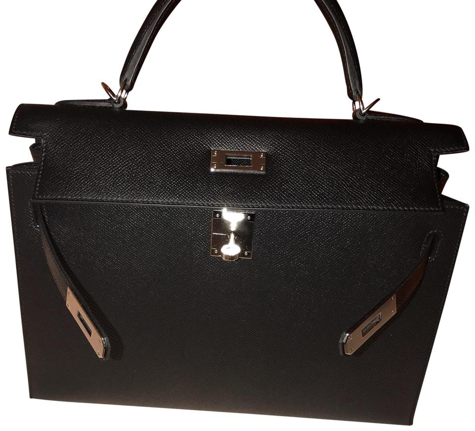 df8fbc31dbff Hermès Kelly Sellier 32cm with Palladium Hardware A Stamp 2017 Black ...