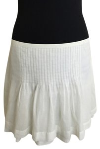 Joie Mini Pintuck Summer Mini Skirt White