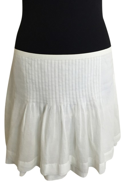 Joie Pintuck Summer Mini Skirt White