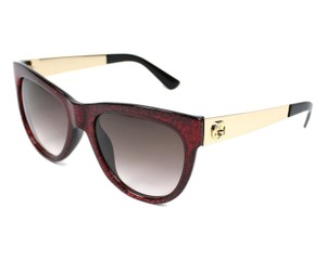 Gucci NEW GUCCI (GG 3739) Cat Eye Red Gltter Frame Designer Sunglasses