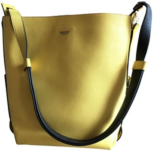 Emilio Pucci Leather Pebbled Gold Hardware Suede Casual Shoulder Bag