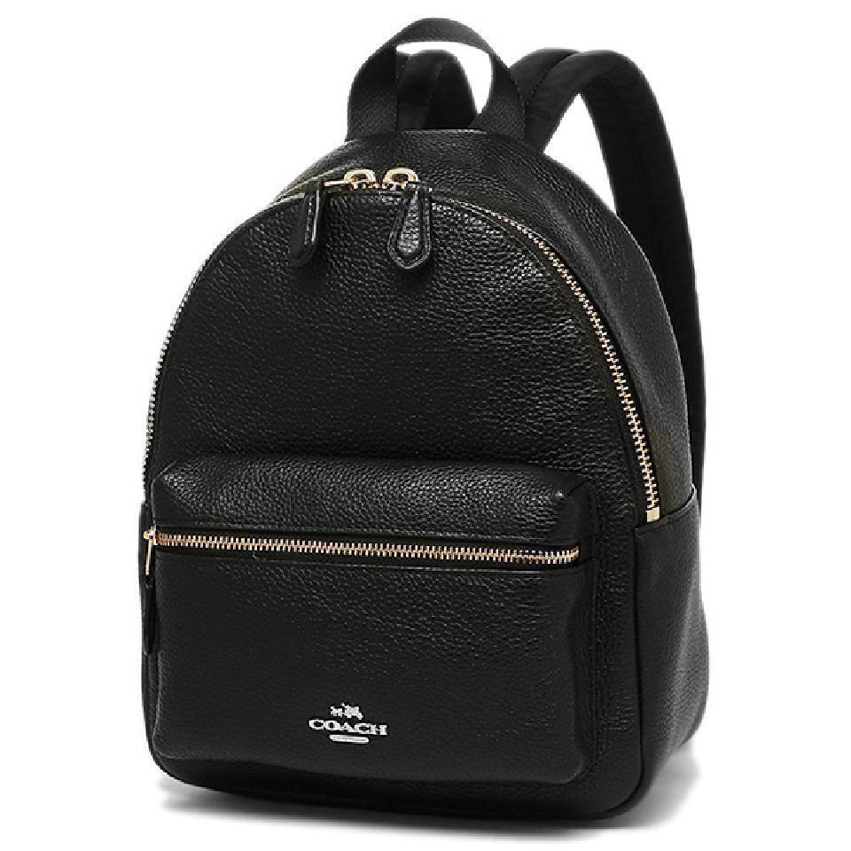 well known best deals on how to choose Coach F38263 Charlie Mini Black Leather Backpack 35% off retail