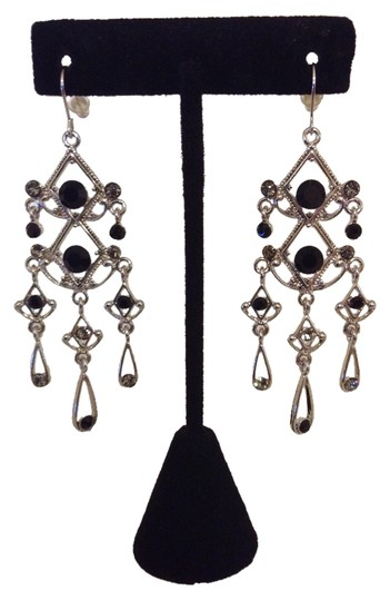Preload https://img-static.tradesy.com/item/2239452/silver-and-black-rhinestone-dangle-earrings-0-0-540-540.jpg