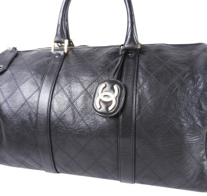 Chanel Weekend Carry All Duffle Crossbody Two Way Shoulder Bag