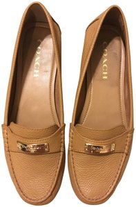 Coach Leather Loafer Brown Flats