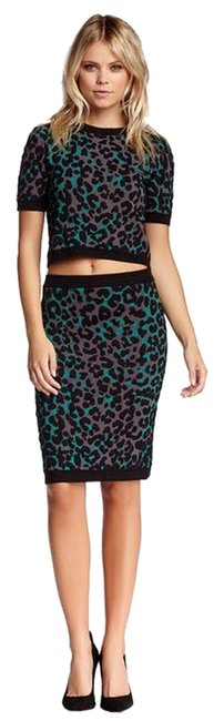 Romeo & Juliet Couture Animal Animal Pencil Sexy Skirt Cheetah Print - Blue