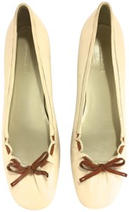 Jil Sander Business Comfortable Casual Travel Interview Ivory Pumps