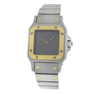 Cartier Authentic Ladies Cartier Galbee 24MM Steel 18K Yellow Gold Automatic