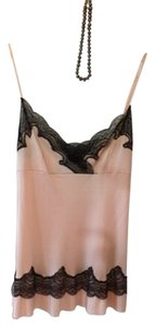 Ralph Lauren Black Label Top Salmon With Black Lace