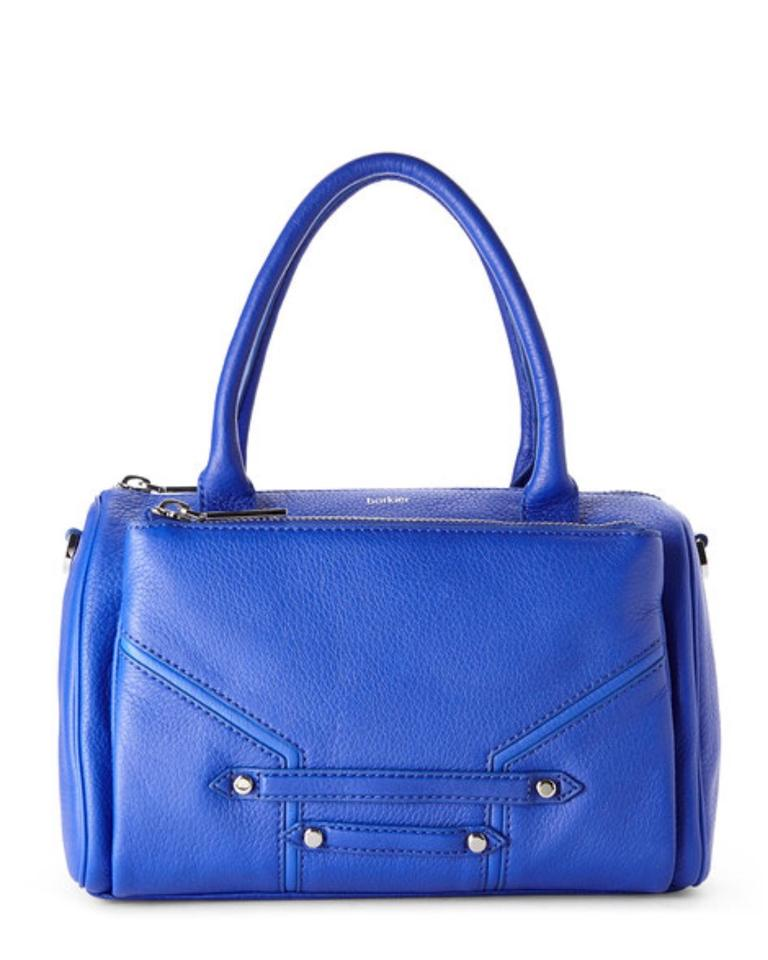 Botkier Leather Mercer Crossbody Bag. COBALT BLUE Satchel