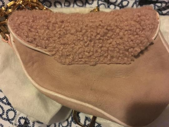 Dior Saddle Christian Classic Suede Wristlet in Pink Image 1