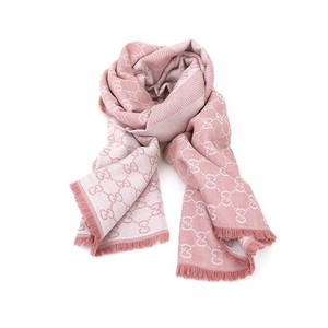 Gucci SALE! New - GG Guccissima Pink Wool Silk Scarf 8059481569