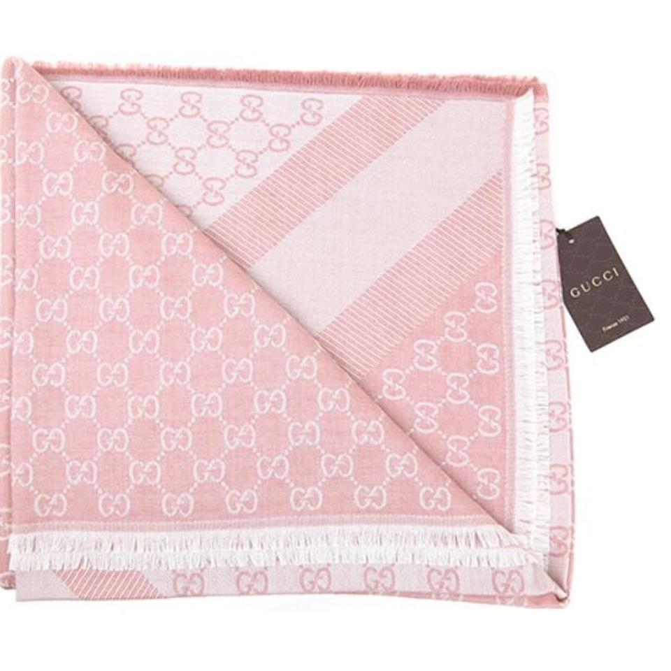 sale new gg guccissima pink wool silk scarf 8059481569 on tradesy. Black Bedroom Furniture Sets. Home Design Ideas