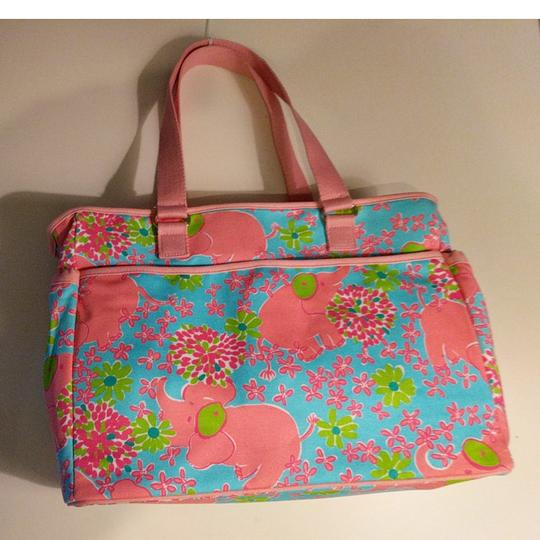 Lilly Pulitzer With Changing Mat Canvas Diaper Bag Tradesy