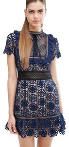 self-portrait Party Holiday Lace Mini Floral Dress