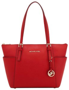 Michael Kors Tote in Bright Red/Gold