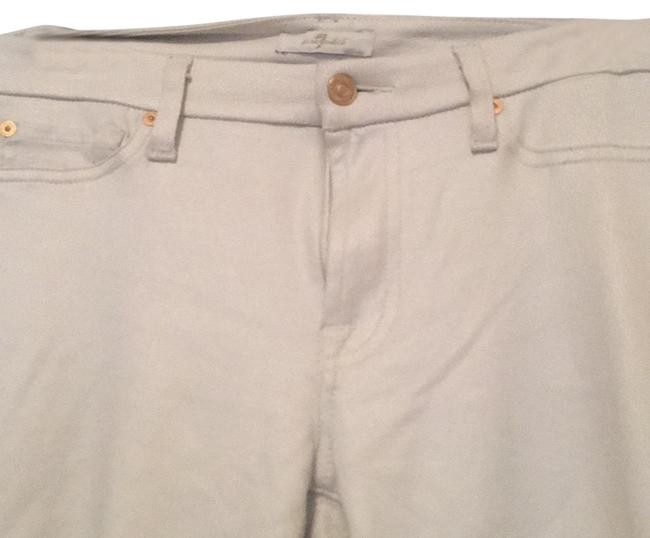 Item - Cream Coated Straight Leg Jeans Size 28 (4, S)