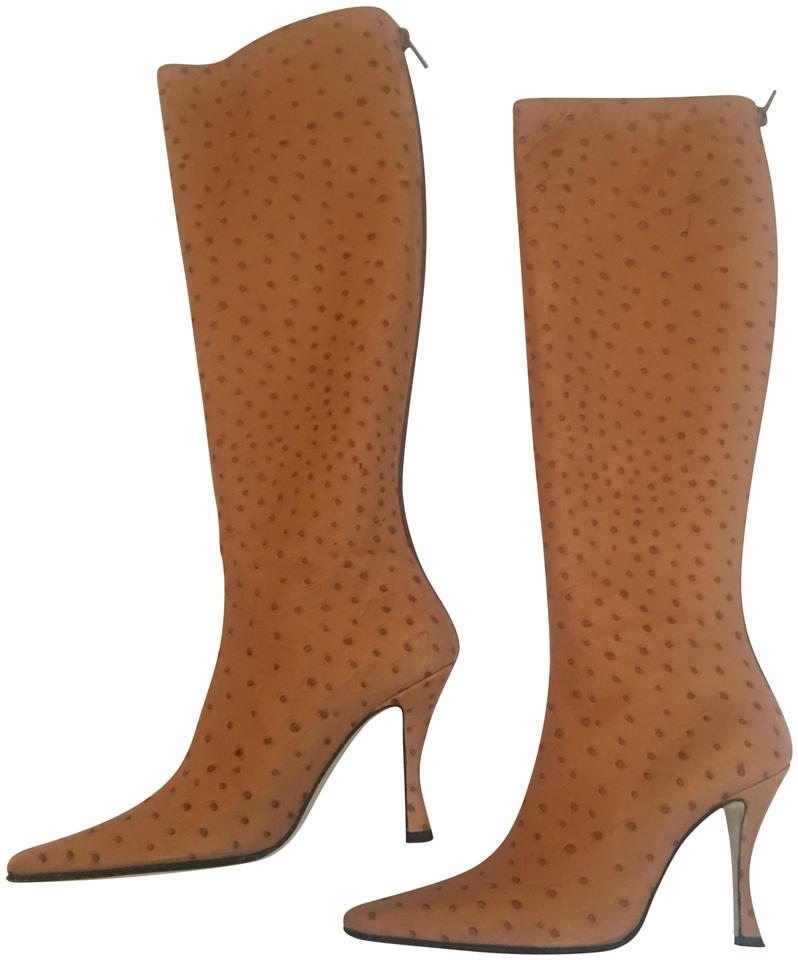 Walter Italy Steiger Camel Brown Hand Made In Italy Walter Pointed Toe Tall Boots/Booties 27d82f