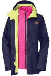 The North Face Triclimate Waterproof Hyvent Blue, Pink and Yellow Jacket