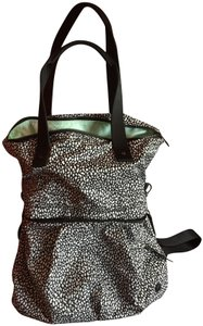 Lululemon Crossbody Handle Convertible Tote in Black/White Mosaic/Mint Interior
