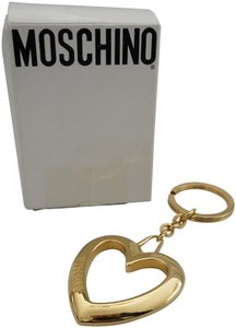 Moschino MOSCHINO Gold Metal Large HEART Key Chain New in Box