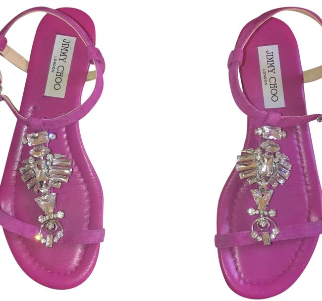 Jimmy Choo Pink None Sandals Size US 7 Regular (M, B) Jimmy Choo Pink None Sandals Size US 7 Regular (M, B) Image 1