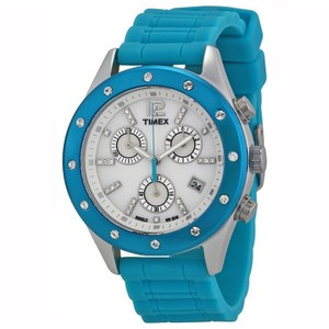 Timex T2N833 Originals Unisex Turquoise Silicone Band With White Dial Watch