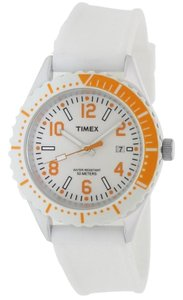Timex T2P007 Originals Unisex White Rubber Band With White Dial Watch