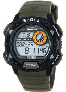 Timex T49975 Expedition Men's Khaki Resin Band With Grey Digital Dial