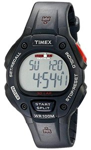 Timex T5H581 Ironman Men's Black Plastic Band With Grey Digital Dial Watch