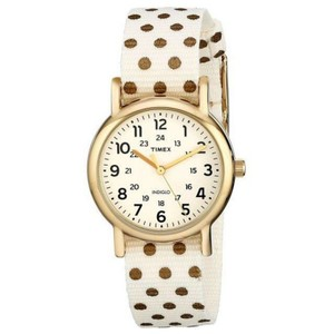 Timex TW2P65400 Weekender Women's Cream Nylon Band With Cream Dial Watch
