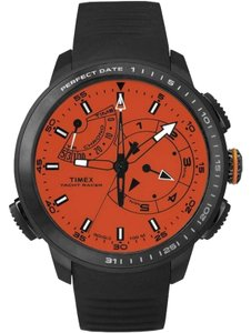 Timex TW2P73100 Intelligent Men's Black Silicone Band With Orange Dial