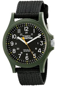 Timex TW4999800 Expedition Men's Black Nylon Band With Black Analog Dial